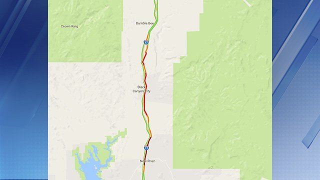 The vehicle fire was only affecting northbound lanes on the I-17. (Source: Arizona Department of Transportation)
