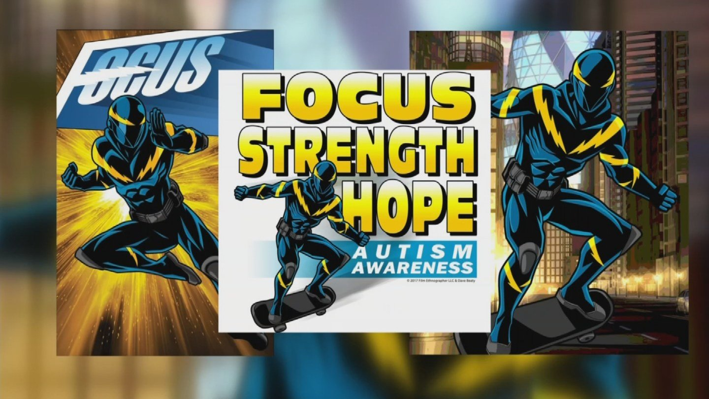 An up-and-coming Superhero named Focus will be at Comicon and the key to his super powers is actually the result of what some consider a disability. (Source: 3TV/CBS 5)