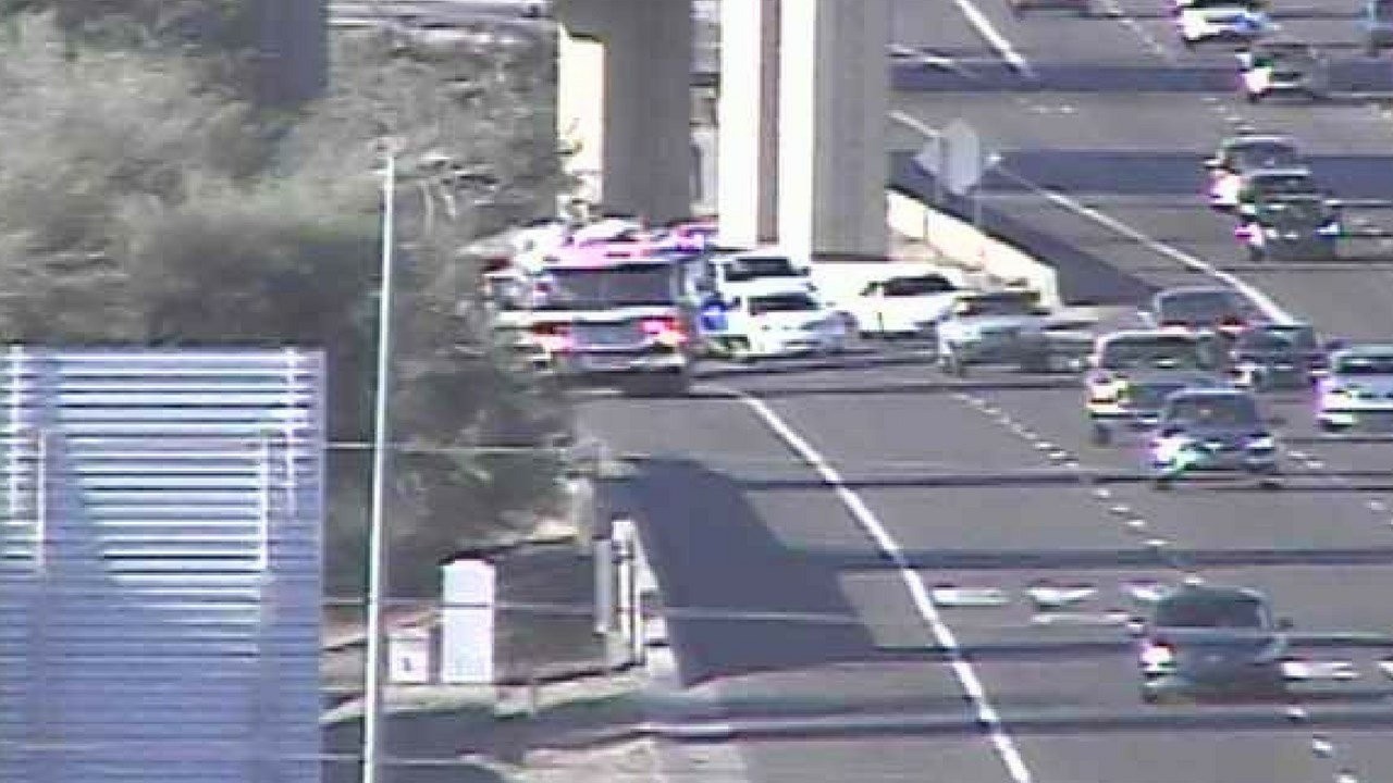 Tempe fire says two family members were taken to the hospital following this crash. (Source: Arizona Department of Transportation)