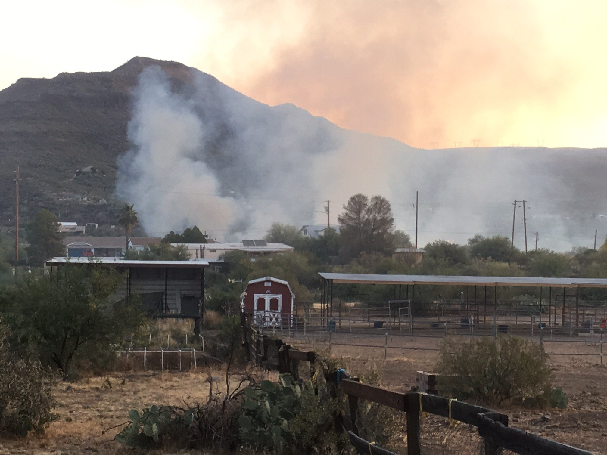 The Joe Hill fire flared up as of Sunday. (SOURCE: 3TV/ CBS 5)