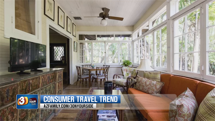 One in three travelers now prefers private accommodations. (Source: 3TV/CBS 5)