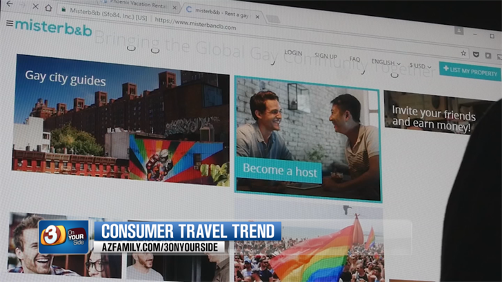 There are niche platforms for gay and lesbian travelers. (Source: 3TV/CBS 5)