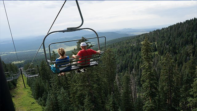 Arizona Snowbowl offers scenic chairlifts throughout the summer season. (Source: Arizona Snowbowl)
