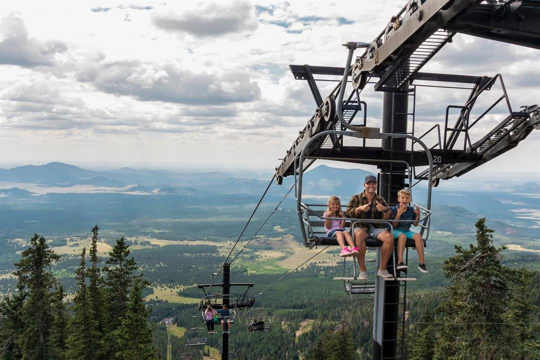 The chairlift runs now through Labor Day. (Source: Arizona Snowbowl)