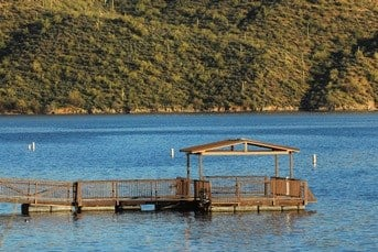The fishing pier on Saguaro Lake. (29 May 2017) [Source: AZGFD]