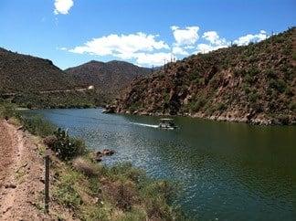 The tranquil waters of Apache lake, Arizona. (29 May 2017) [Source: Arizona Game and Fish Dept.]