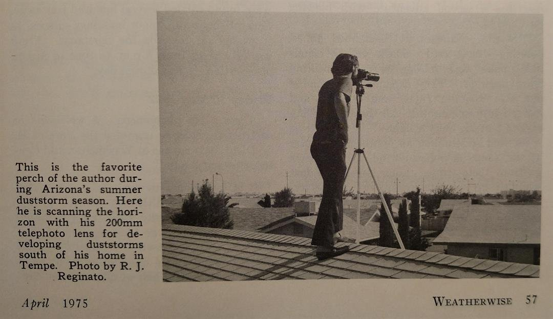 Dr. Sherwood Idso tracked storms from his roof (R.J. Reginato)