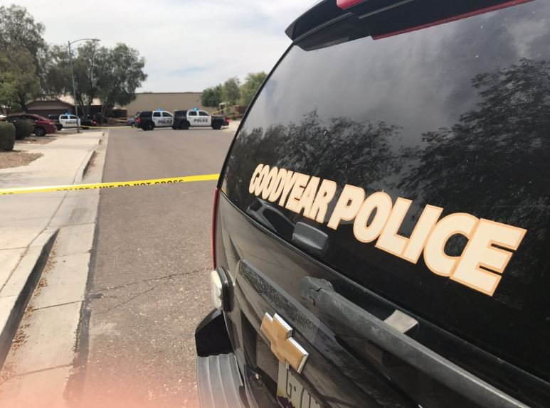 Goodyear Police scene where a man was found dead after being shot. (29 May 2017) [Source: 3TV/CBS 5]