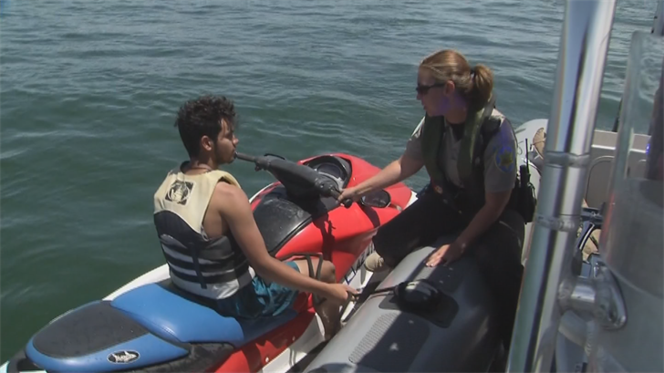 Deputy Amanda Hughes and her colleagues were out on the lake making sure boaters and water sports enthusiasts were obeying the laws. (Source: 3TV/CBS 5)