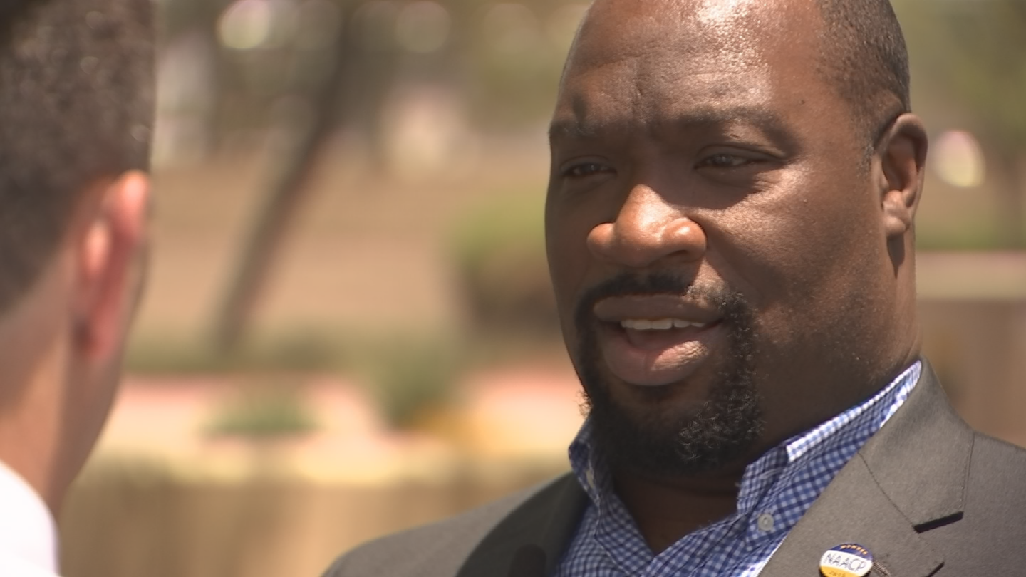 Proy Tatem, president of the East Vally NAACP, says Confederate shouldn't be remembered with monuments. (Source: 3TV/CBS 5)