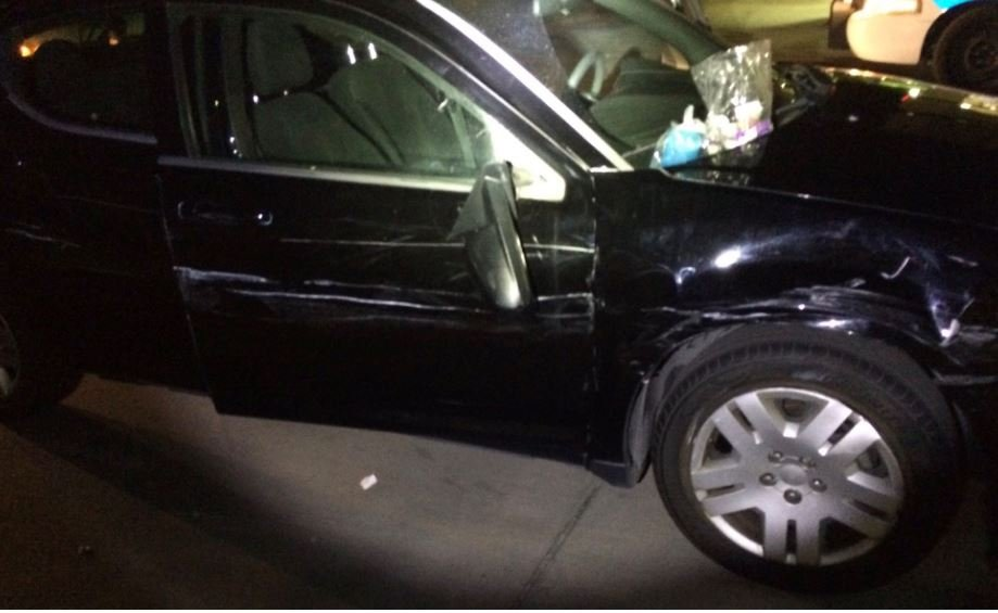 Damage on the car that was being driven in the wrong lanes of US60 Monday. (29 May 2017) [Source: Arizona Department of Public Safety]