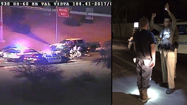 Impairment is suspected of a wrong-way driver on the U.S. 60. (Source: ADOT/DPS)