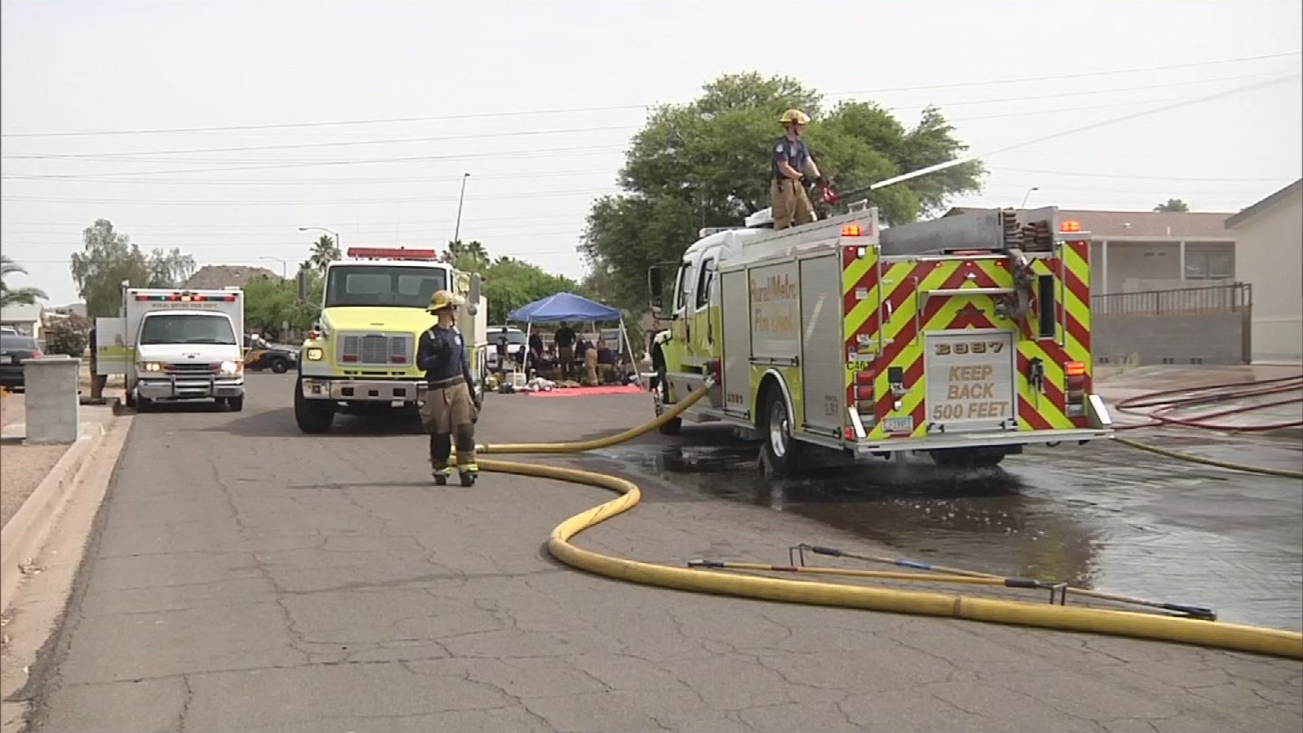 The mobile home was completely lost by the fire. (Source: 3TV/CBS 5)