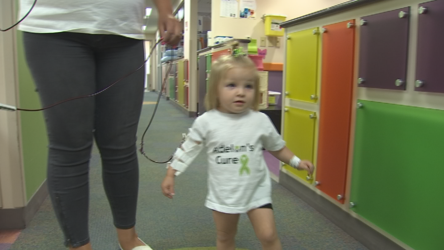 Adelyn Troutman was born with Diamond Blackfan Anemia, a rare genetic disorder that prevents her body from producing red blood cells. (Source: 3TV/CBS 5)