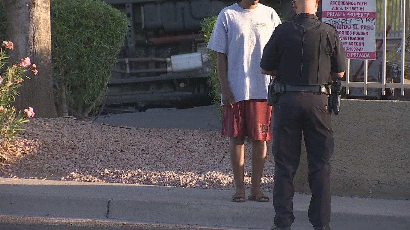 The officer gave the driver a field sobriety test after it appeared the driver was impaired. (Source: 3TV/CBS 5)