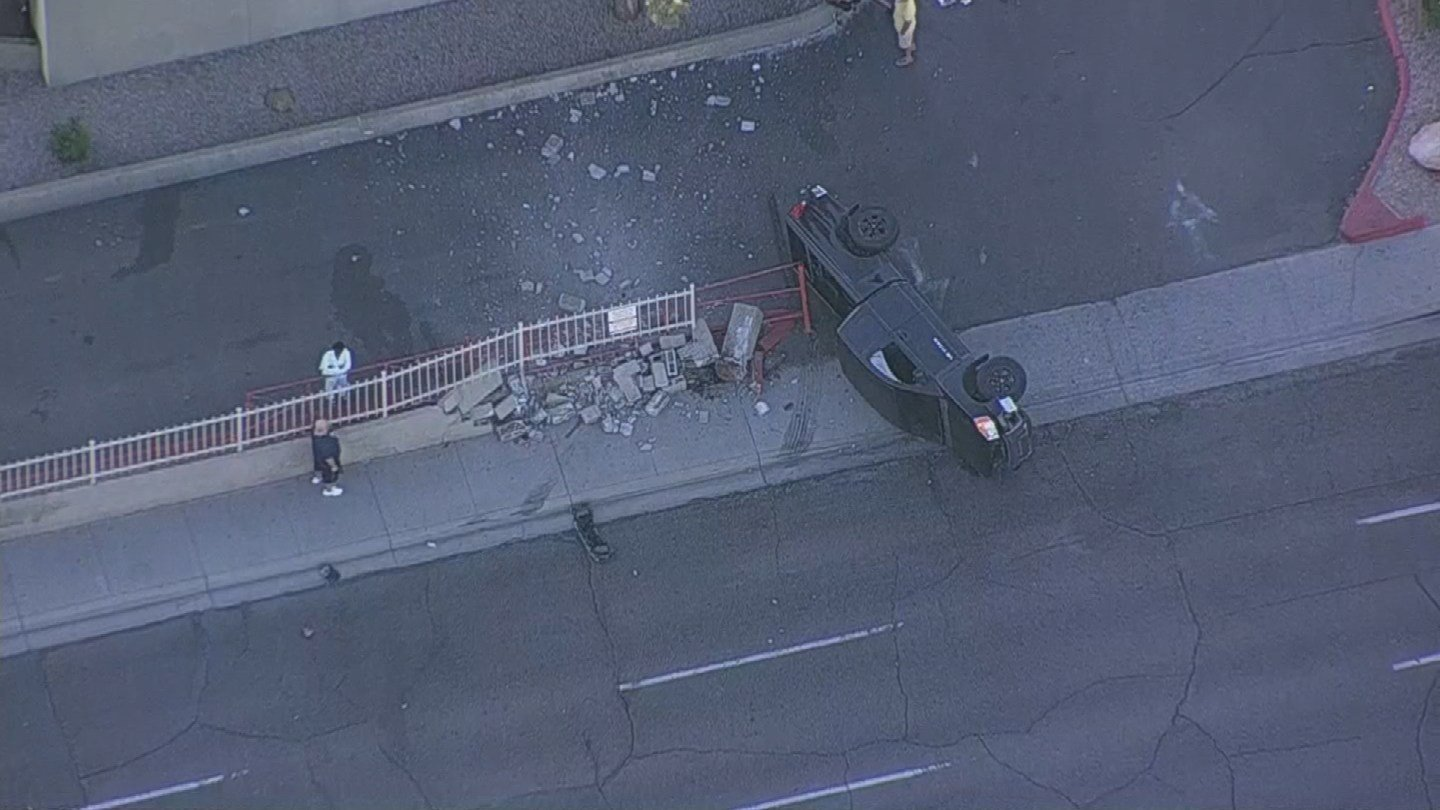 No other vehicle was involved in the accident and the driver was unharmed. (Source: 3TV/CBS 5)