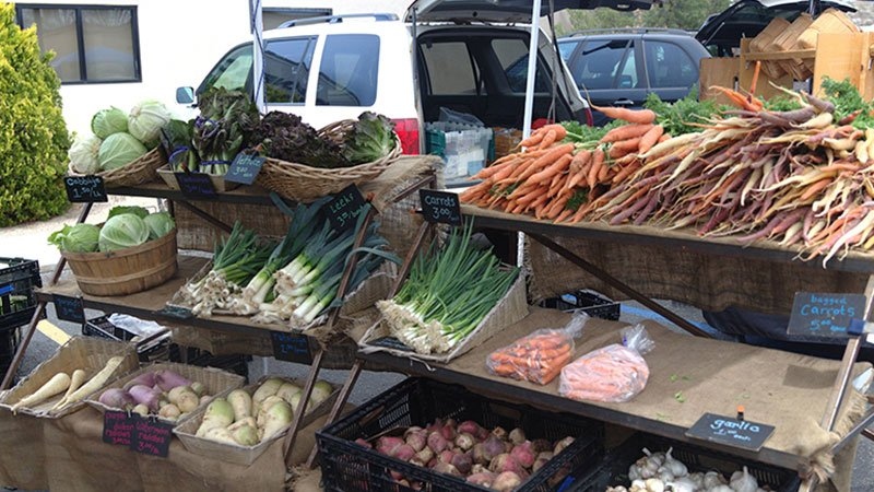 People can purchase fresh produce at the Prescott Farmers Market, which participates in the Double Up Food Bucks program. (Source: Chelsea Shannon/Cronkite News)