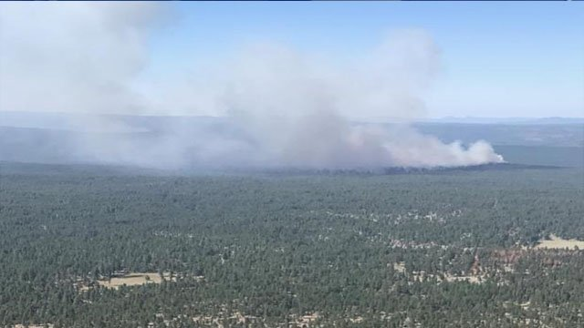 Surrounding areas should expect temporary smoke impacts. (Source: Coconino National Forest)