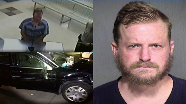 Trent Walker was arrested after colliding with several vehicles while traveling the wrong way. (Source: MCSO/Arizona Department of Public Safety)