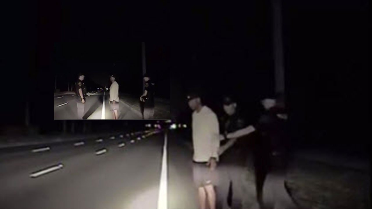 Dashcam video of Tiger Woods released (Source: CBS)