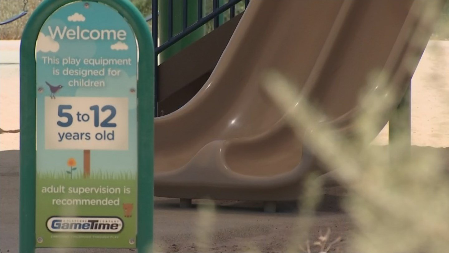 The 5-year-old girl was bitten by a coyote that was apparently underneath the slide. (Source: 3TV/CBS 5)