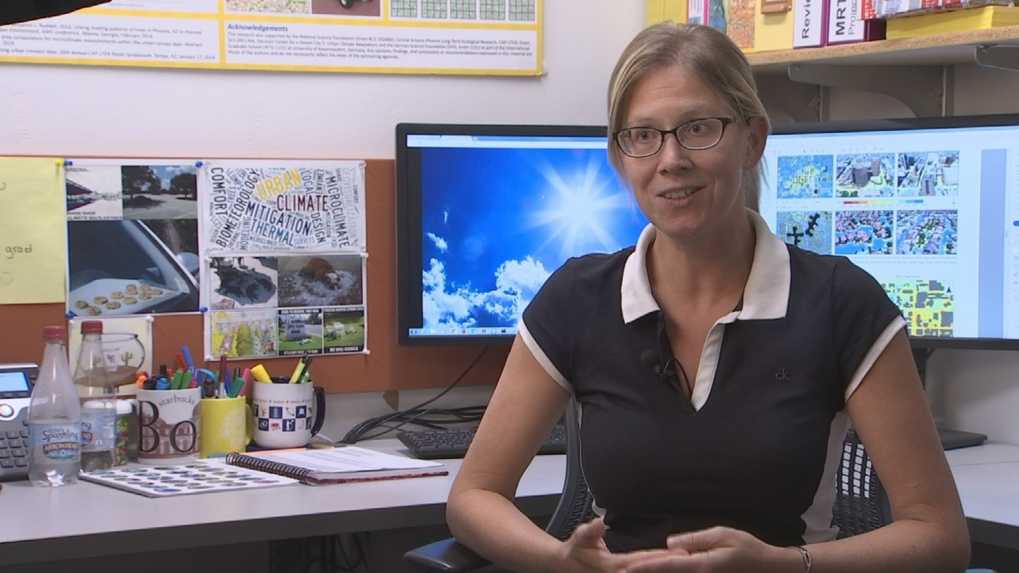 Ariane Middel is assistant research professor in Arizona State University's School of Geographical Sciences and Urban Planning. (Source: 3TV/CBS 5)