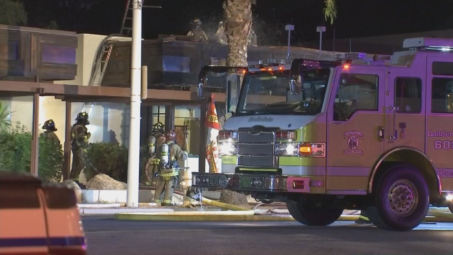 Several fire departments helped battle a blaze at a Scottsdale strip mall. (Source: 3TV/CBS 5)