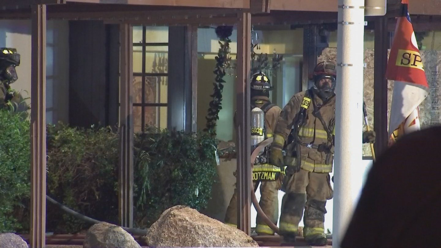 Firefighters quickly battled the blaze after determining no one was inside. (Source: 3TV/CBS 5)