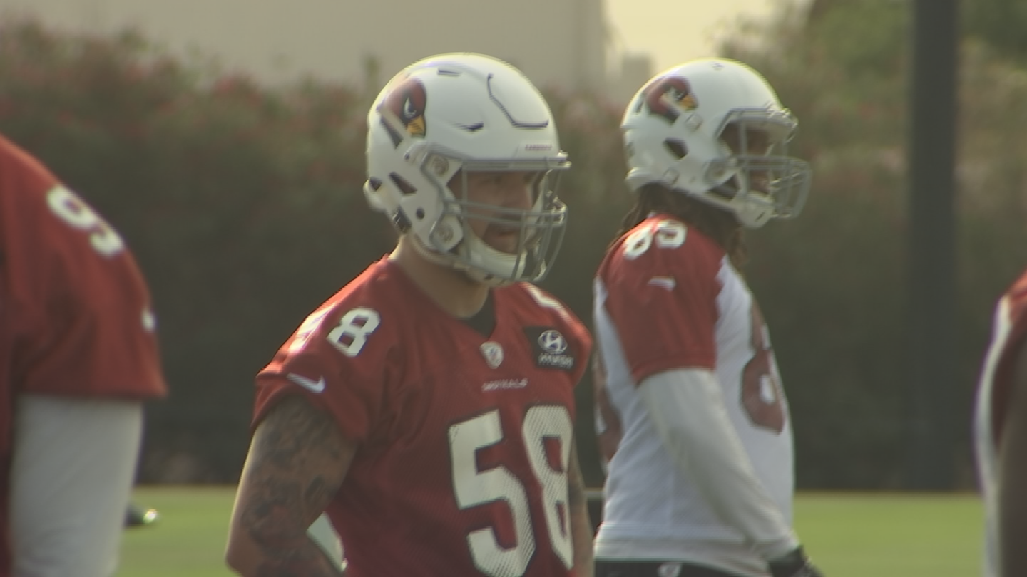 Arians has been impressed with former UofA standout Scooby Wright. (Source: 3TV/CBS 5)