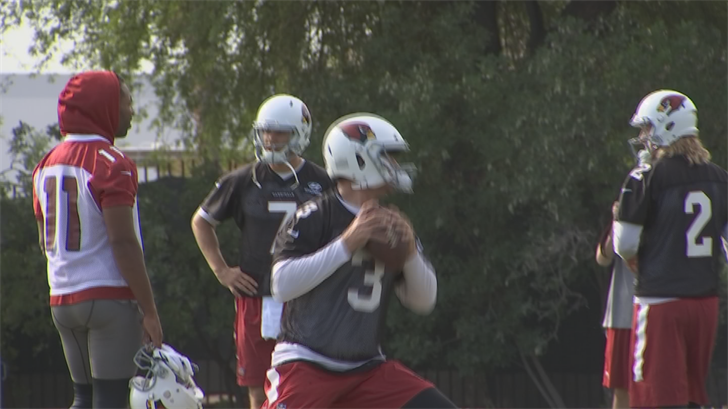 Arians was impressed with Carson Palmer. (Source: 3TV/CBS 5)