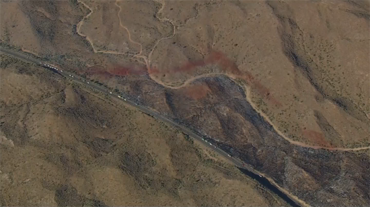 At least 80 acres were burned. (Source: 3TV/CBS 5)