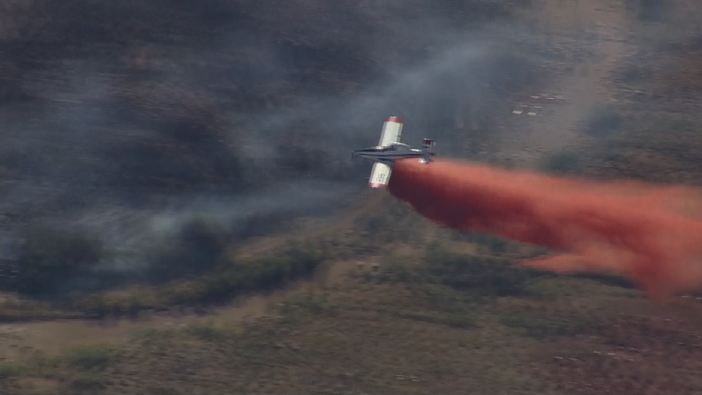 Firefighters used air support to battle the flames. (Source: 3TV/CBS 5)