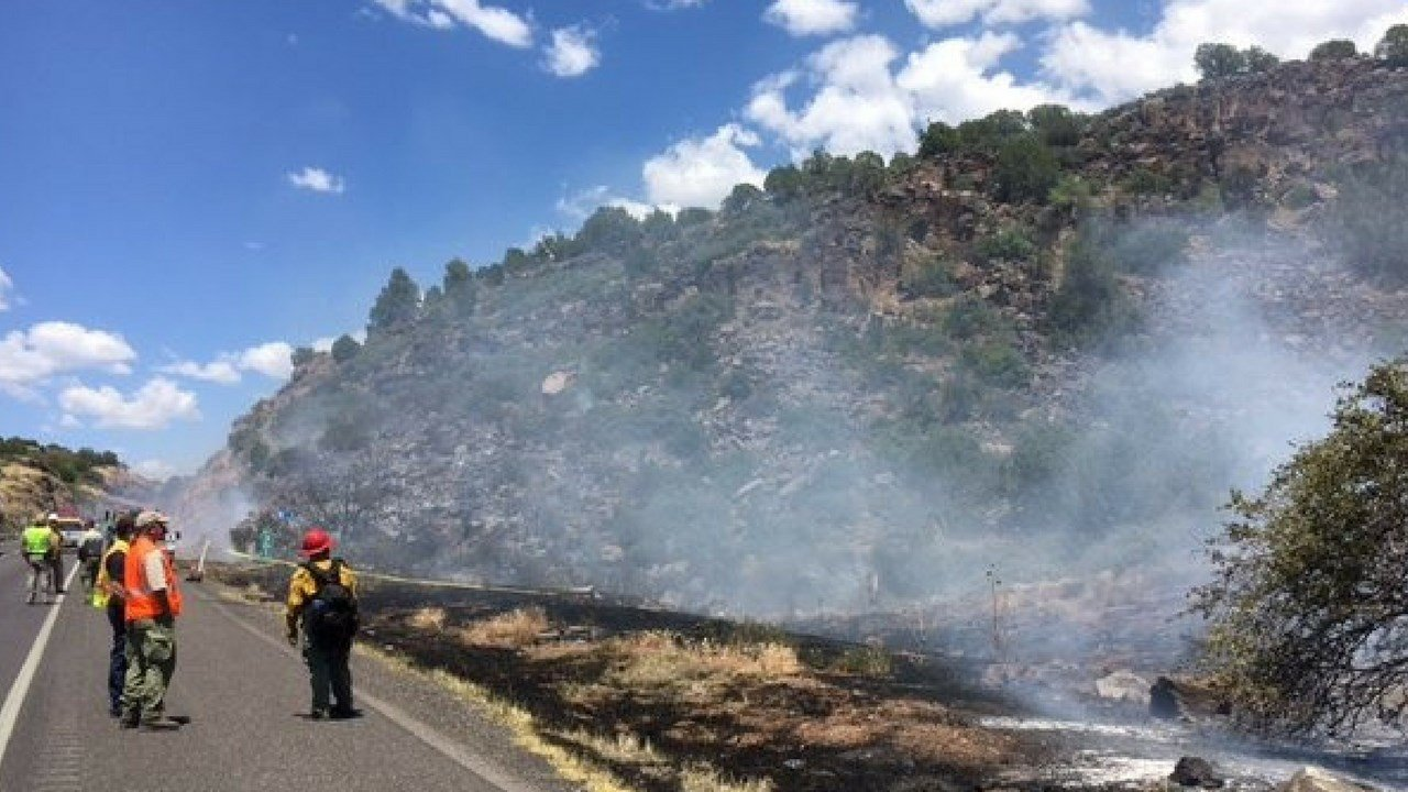 The fire, called the Badger Fire, started on Thursday afternoon. (Source: ADOT)