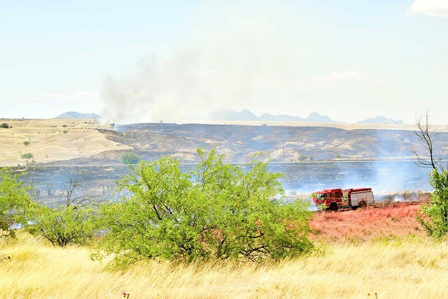 About 150 firefighters were battling the flames. (Source: Arizona Department of Forestry and Fire Management)