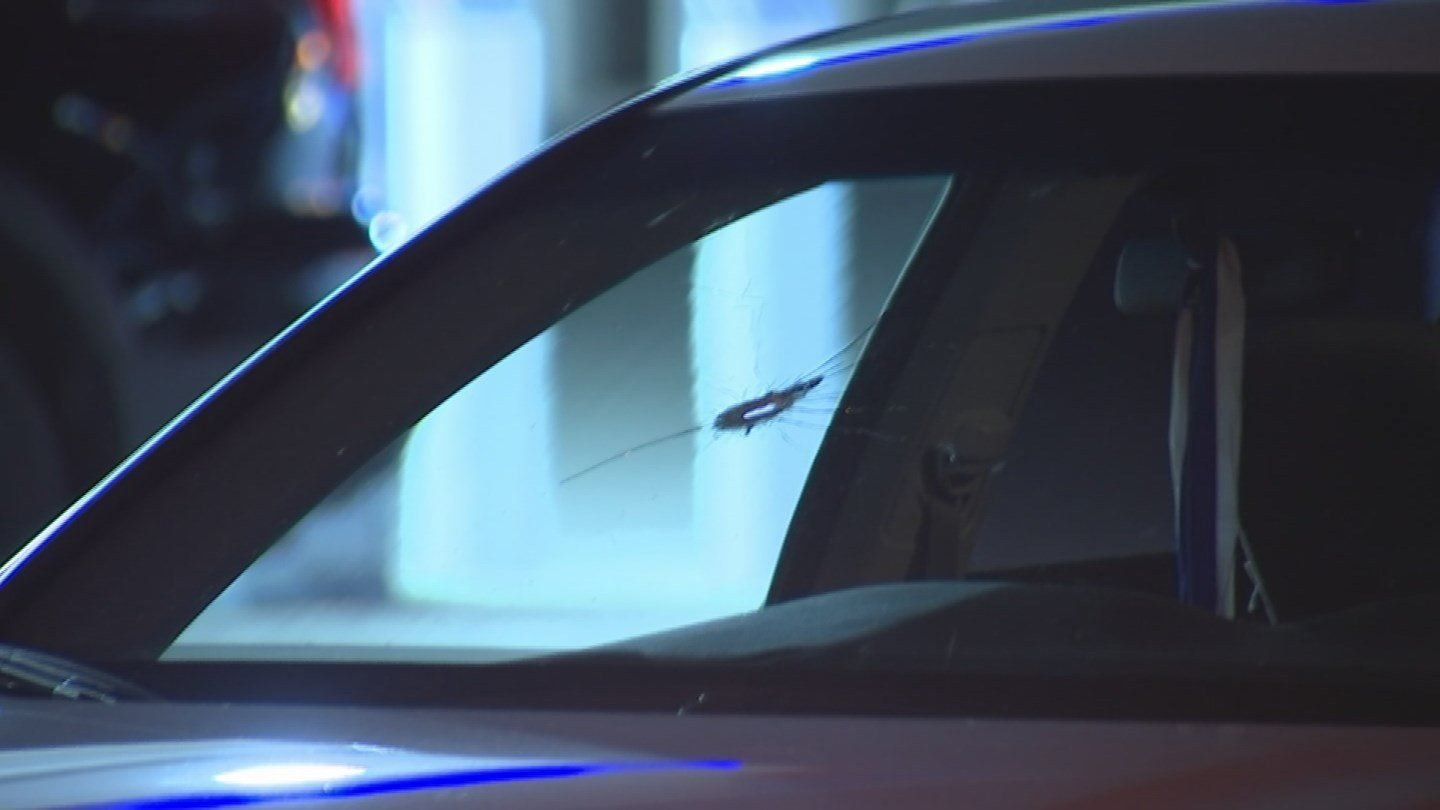 The driver of a white sedan was shot during a road rage incident in Phoenix. (Source: 3TV/CBS 5)