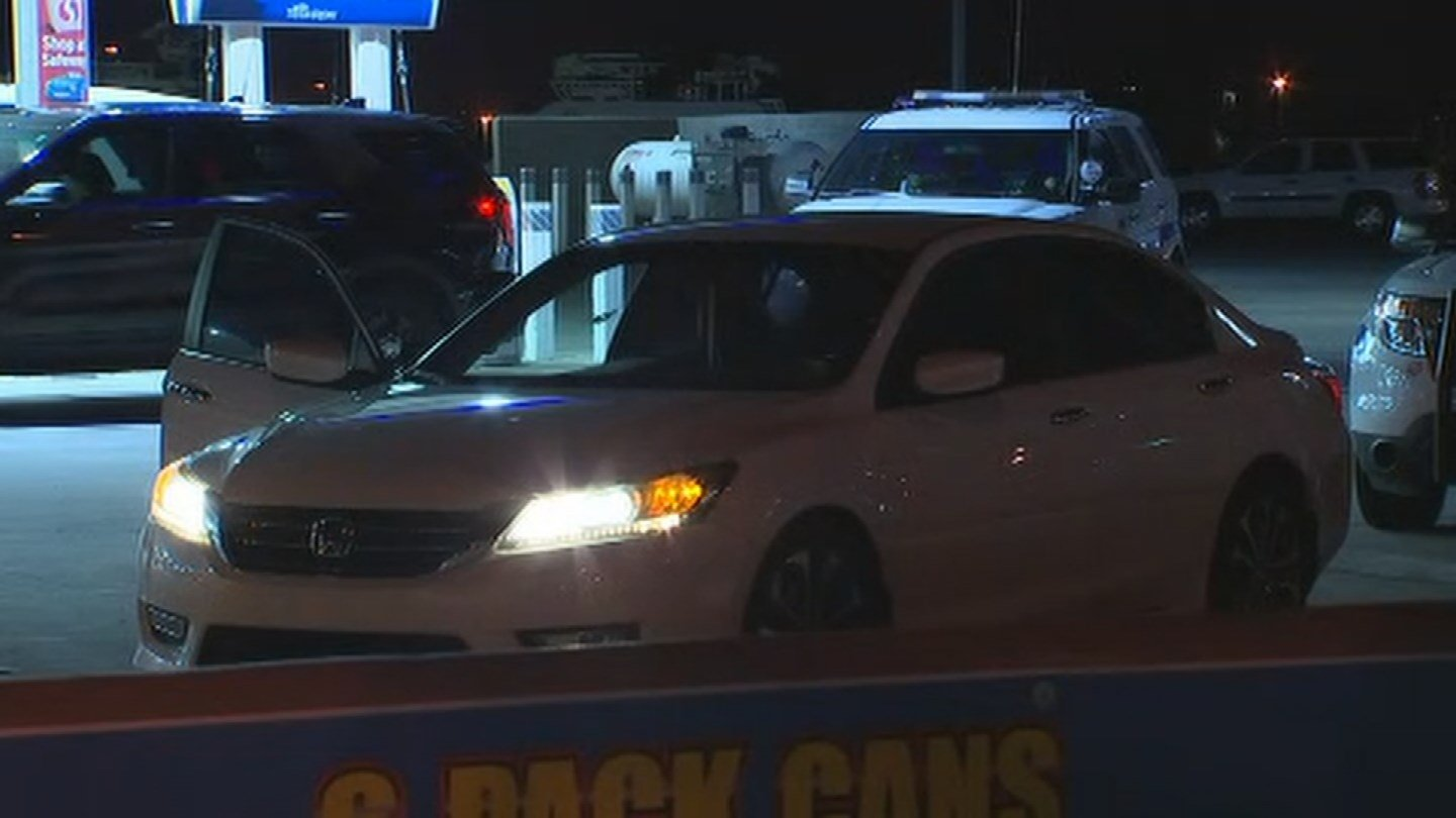 Three people were in the sedan at the time of the shooting. (Source: 3TV/CBS 5)