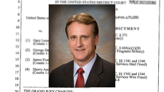 Former Corporation Commissioner Gary Pierce (pictured), his wife Sherry Ann Pierce, utility owner George Harry Johnson and prominent lobbyist Jim Norton were indicted last week. (Source: http://www.azcc.gov)