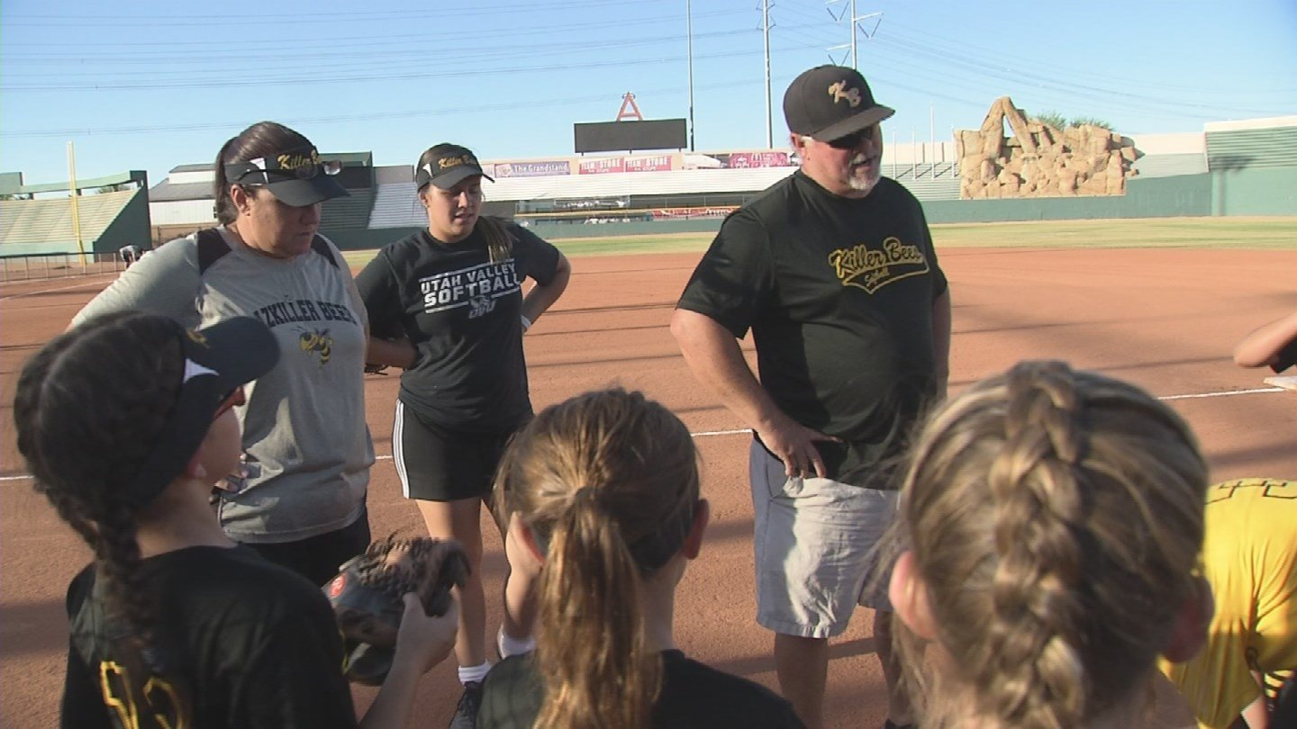 Husband and wife, Scott and Nikki Steverson, coach a softball team named the Killer Bees. (Source: 3TV/CBS 5)