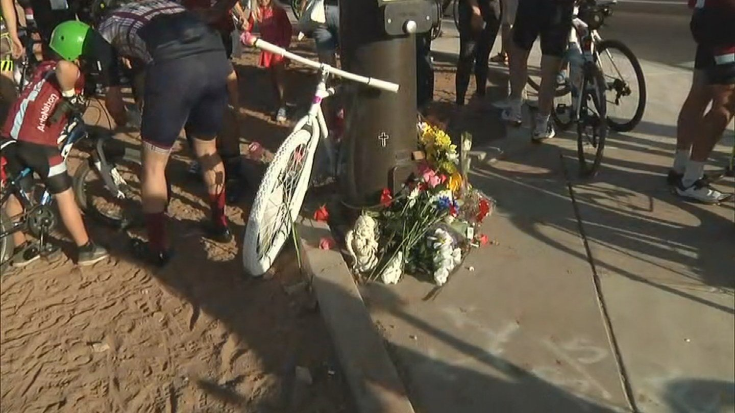 A memorial was created at the site of the accident. (Source: 3TV/CBS 5)