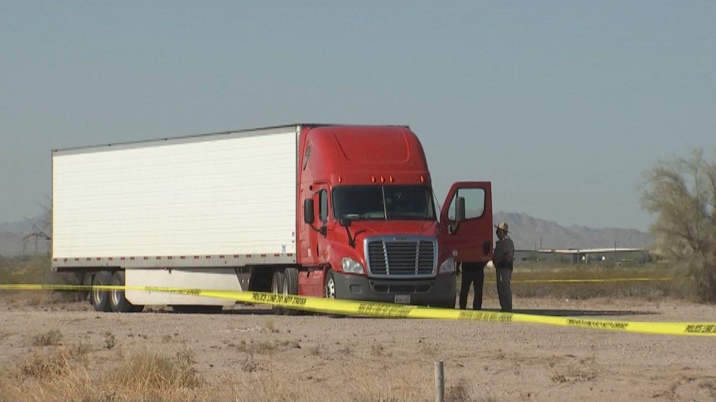 A truck driver was possibly shot while driving on the I-10 in Buckeye, DPS said. (Source: 3TV/CBS 5)