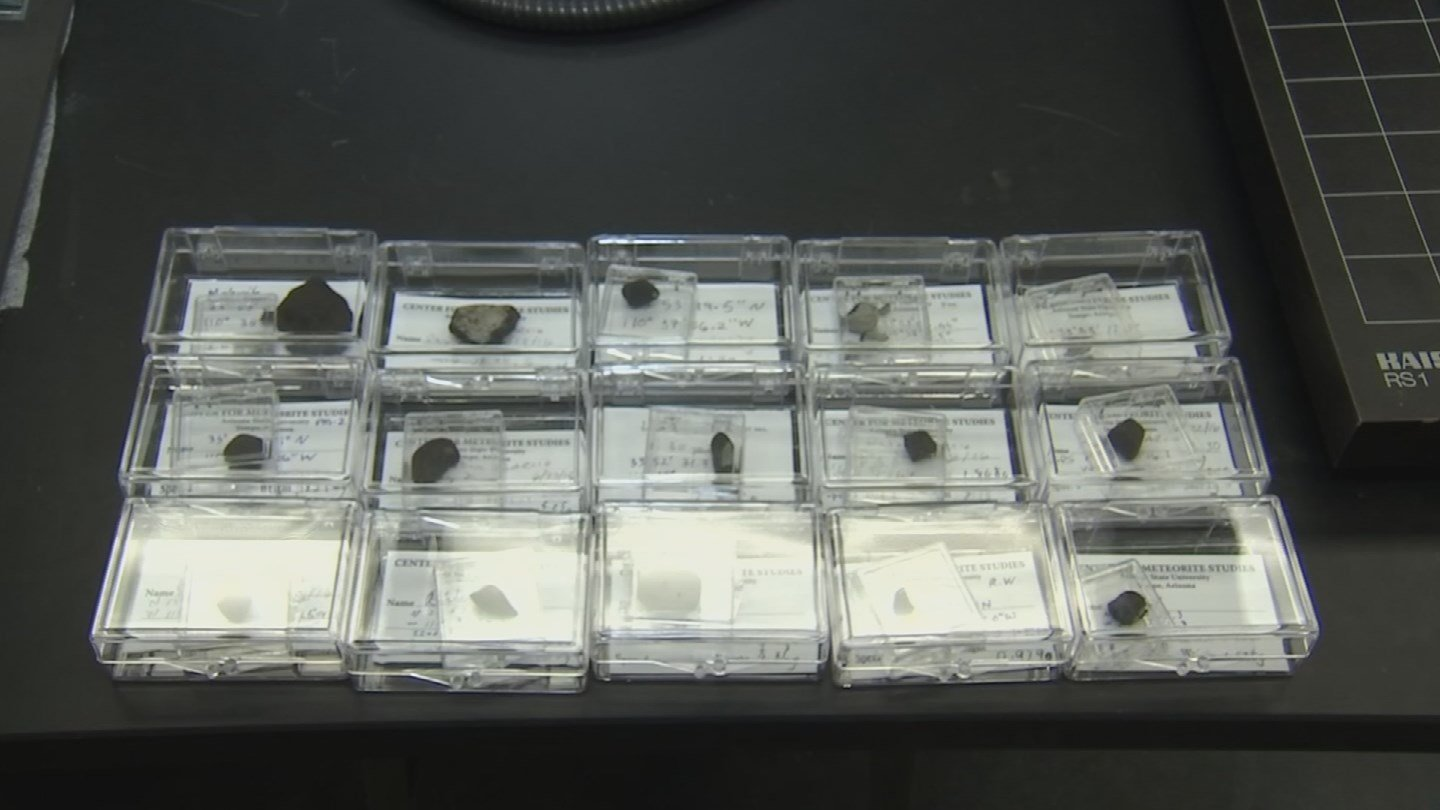 Since June 2, 2016, 15 fragments of that meteorite have been found and are being studied at ASU. (Source: 3TV/CBS 5)