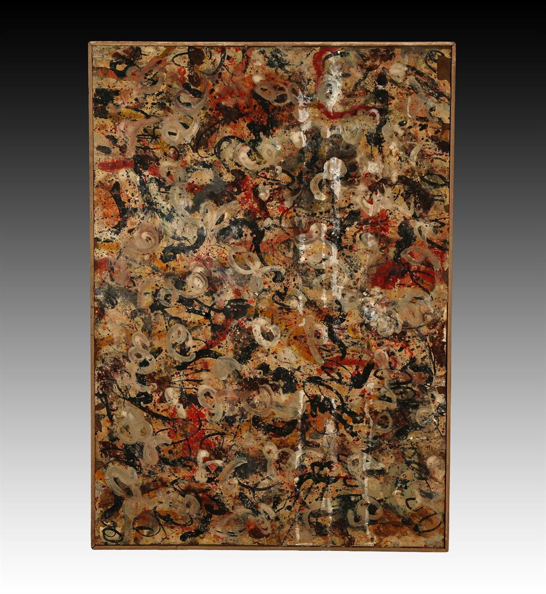 Jackson Pollock gouache painting (Photo courtesy of J. Levine Auction & Appraisal)