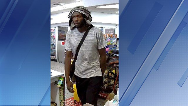 A man wearing a shirt on his head was suspected of stealing cigarettes at a Circle K store in Phoenix. (Source: Silent Witness)