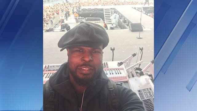 Buddy Strong plays the keyboard and was onstage with the big musical acts for the One Love Manchester concert on Sunday. (Source: Buddy Strong)