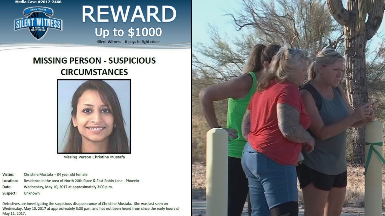 A group of neighbors, friendsand complete strangers went back out to a desert area in north Phoenix where they believe the body of Christine Mustafa might be. (Source: 3TV/CBS 5)