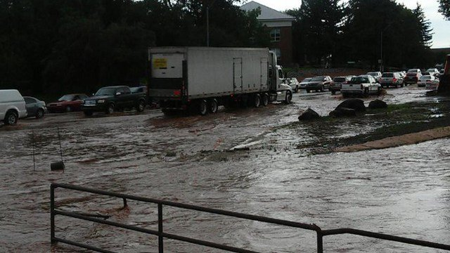 Flooding in Flagstaff on Aug. 3, 2016. (Source: National Weather Service)