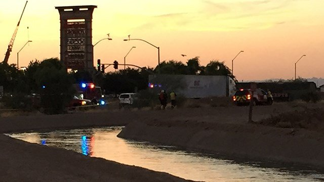 A body was pulled from a canal in the west Valley on Sunday night. (Source: 3TV/CBS 5)