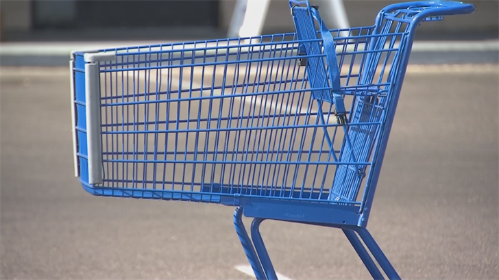 She was found wrapped in a blanket and placed inside a backpack within a Food City shopping cart. (Source: 3TV/CBS  5)