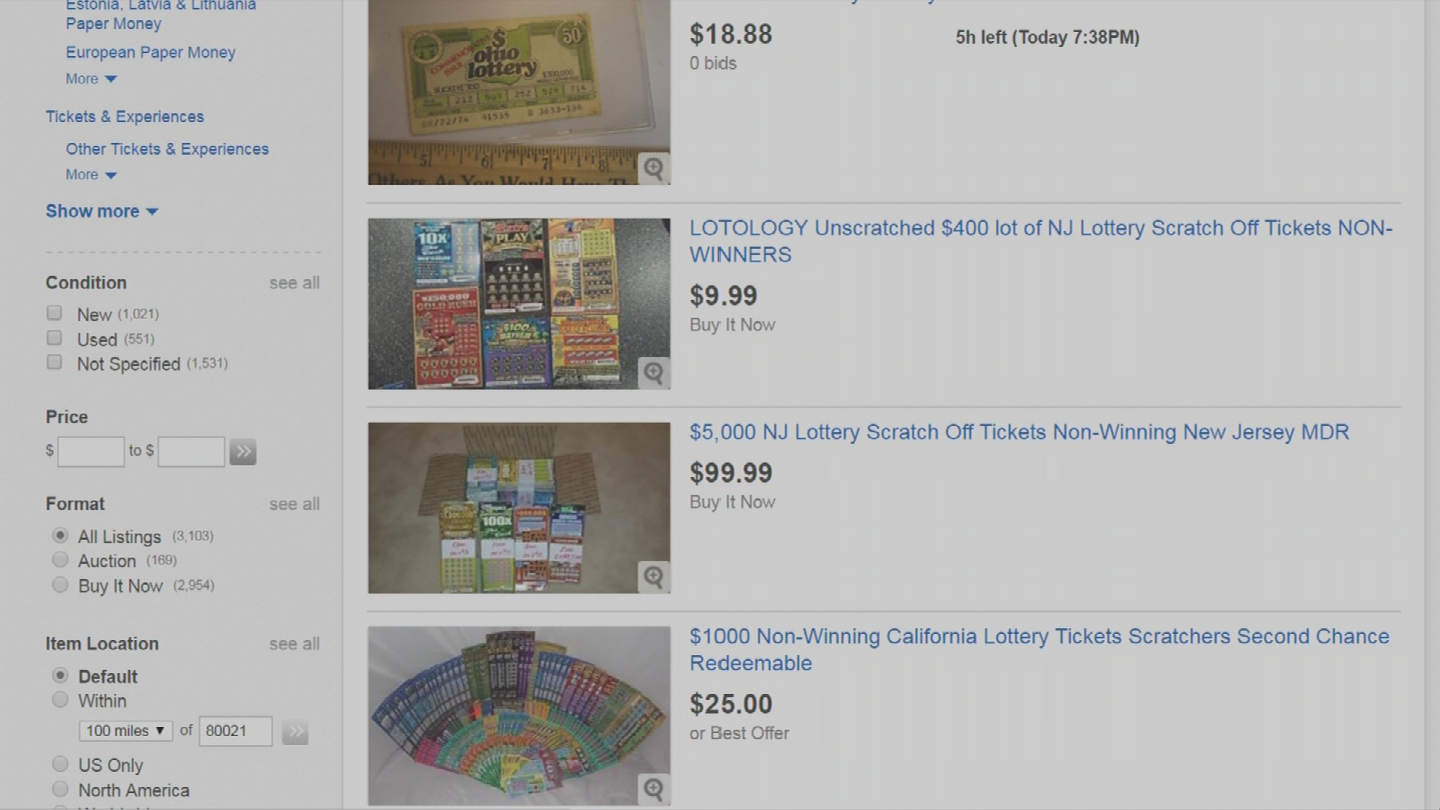 So some people are actually willing to risk it all buying other people's losing tickets on eBay to get the write-off. (Source: 3TV/CBS 5)