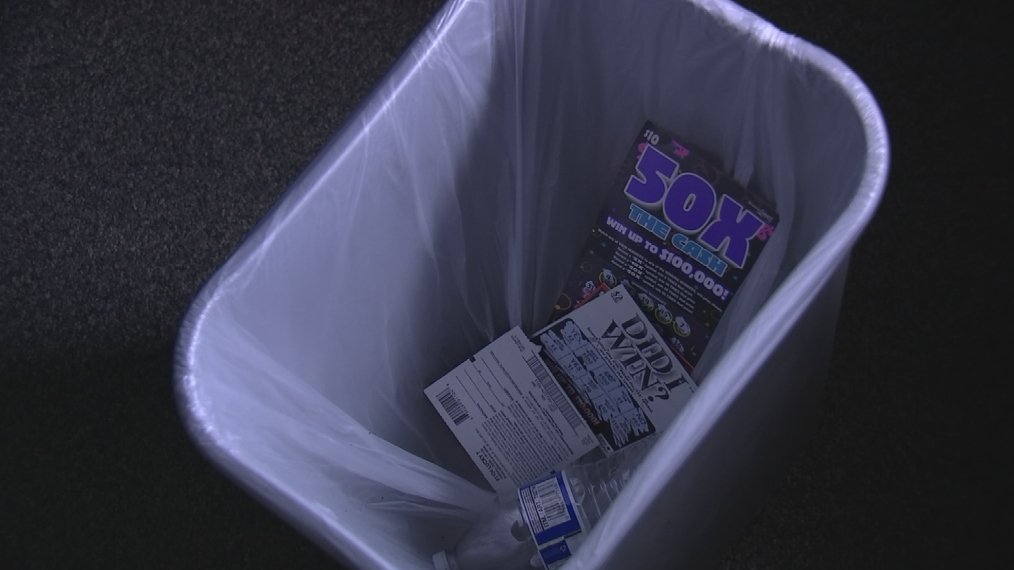 Losing lottery tickets don't belong in the trash. (Source: 3TV/CBS 5)